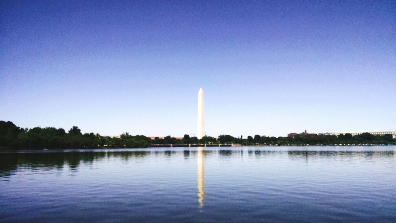 A view of the Washington Monument from the Thomas Jefferson Memorial . Washington, D. C. USA Taking Photos Travelphotography Happy&traveling Architecture Historical Monuments Obelisk