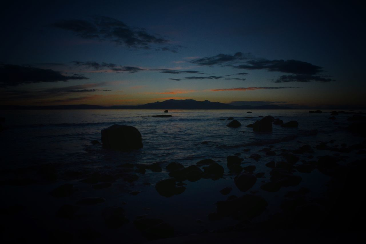 Arran  at Dusk Nature Water Sky Beauty In Nature Tranquil Scene Scenics Sea Tranquility Sunset No People Idyllic Outdoors Beach Day EyeEm Best Edits EyeEm Best Shots EyeEmBestPics Eyemphotography EyeEm Gallery EyeEm Eye4photography  Eyeemphotography Blue