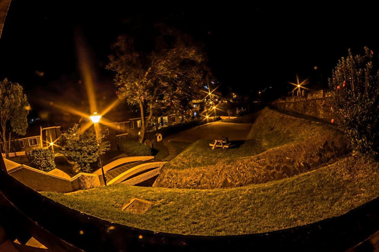 Night Illuminated Lawns Lawn And Garden Resorts No People Outdoors Hill Country Kodaikanal
