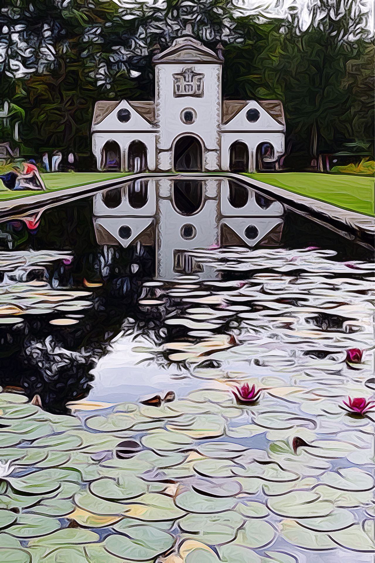 Icolorama Effects & Filters Effects Landscape Landscape_Collection Lilypads Lily Pond Architecture