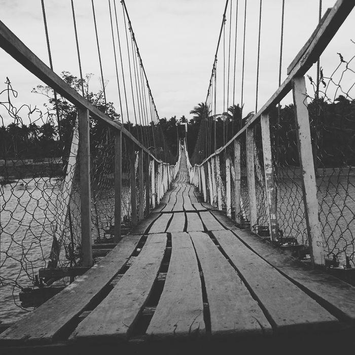 Connection Sky Outdoors Day Bridge - Man Made Structure No People Suspension Bridge Coastline Baler Beach BalerAuroraPhilippines