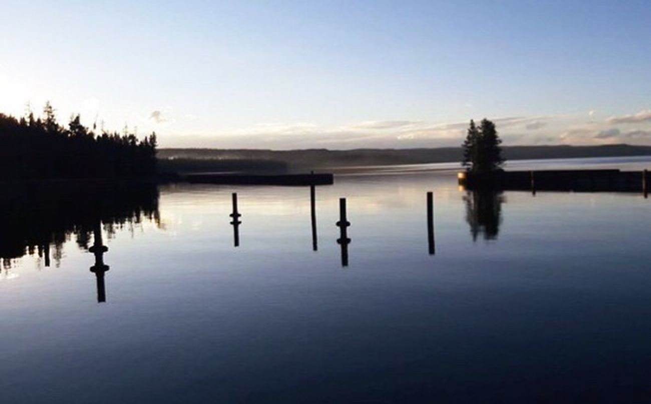 Calm Water on Yellowstone Lake at Yellowstone National Park
