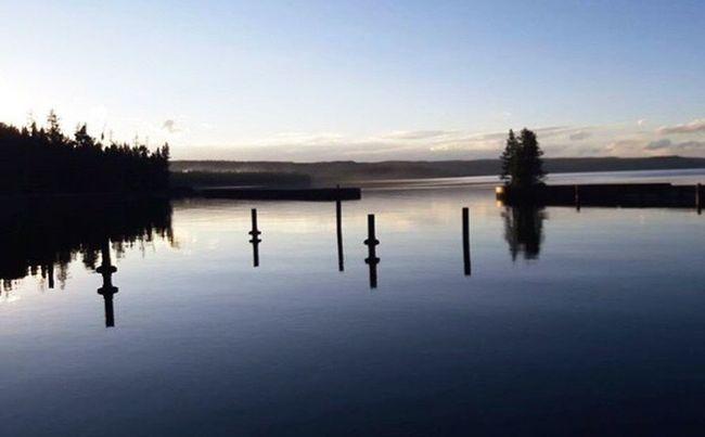 Calm Water on Yellowstone Lake at Yellowstone National Park