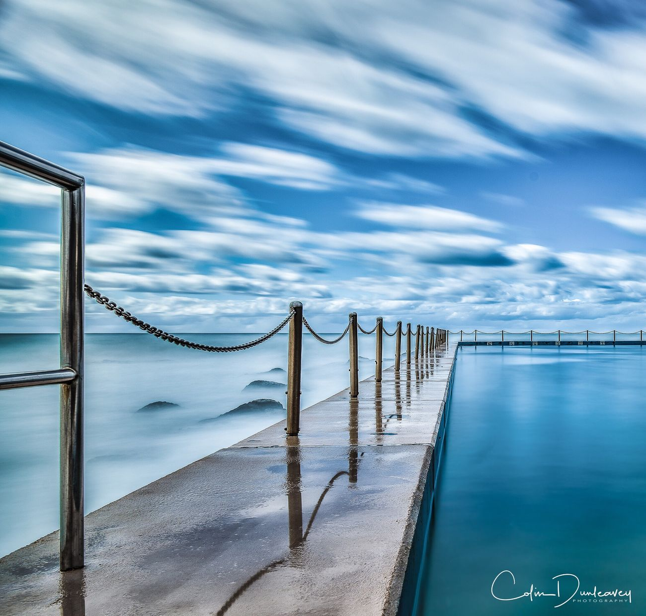 Dawn at South Curl Curl pool, on Sydney's Northern Beaches Water Tranquil Scene Tranquility Sea Sky Scenics Cloud - Sky Travel Destinations Non-urban Scene Blue Nature Ocean Beauty In Nature Outdoors Seascape No People Swimming Pool Dawn Long Exposure
