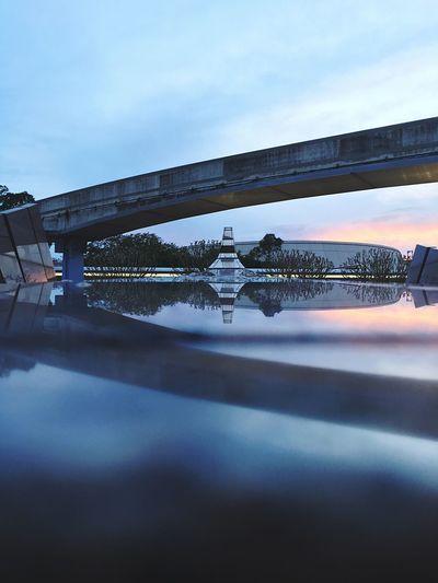 Reflection Reflections EyeEm EyeEm Best Shots IPhone Water Water Reflections Sky Railing Symmetry Florida Epcot