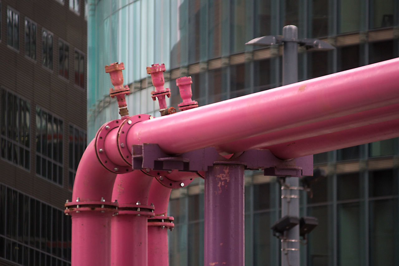 Architectural Feature Cityscape Gas Industry Millennial Pink Pink Pink Color Pipe - Tube Pipeline Streetphotography Tubbing Tube