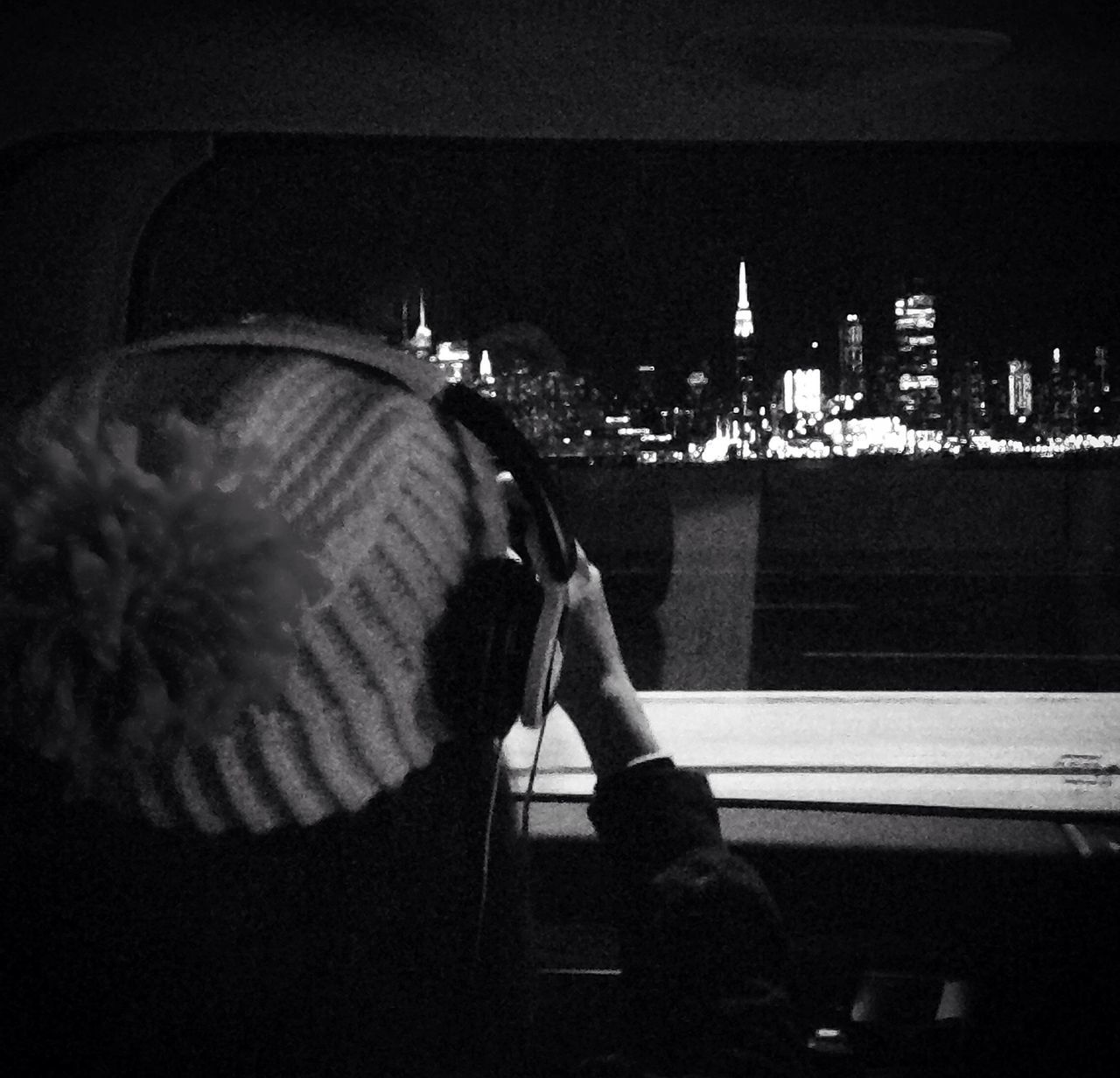 Catching New York City at night, coming home from Philadelphia - my daughter was mesmerized The Drive Photography Themes Real People My Year My View City Night Mesmerized Riding New York City Lights Amazed Teenager Taking Photo Car Seat Backseat TakeoverMusic Different Perspective Black And White Observer Enjoying Life Urban Exhilarating Happy Movement Highway
