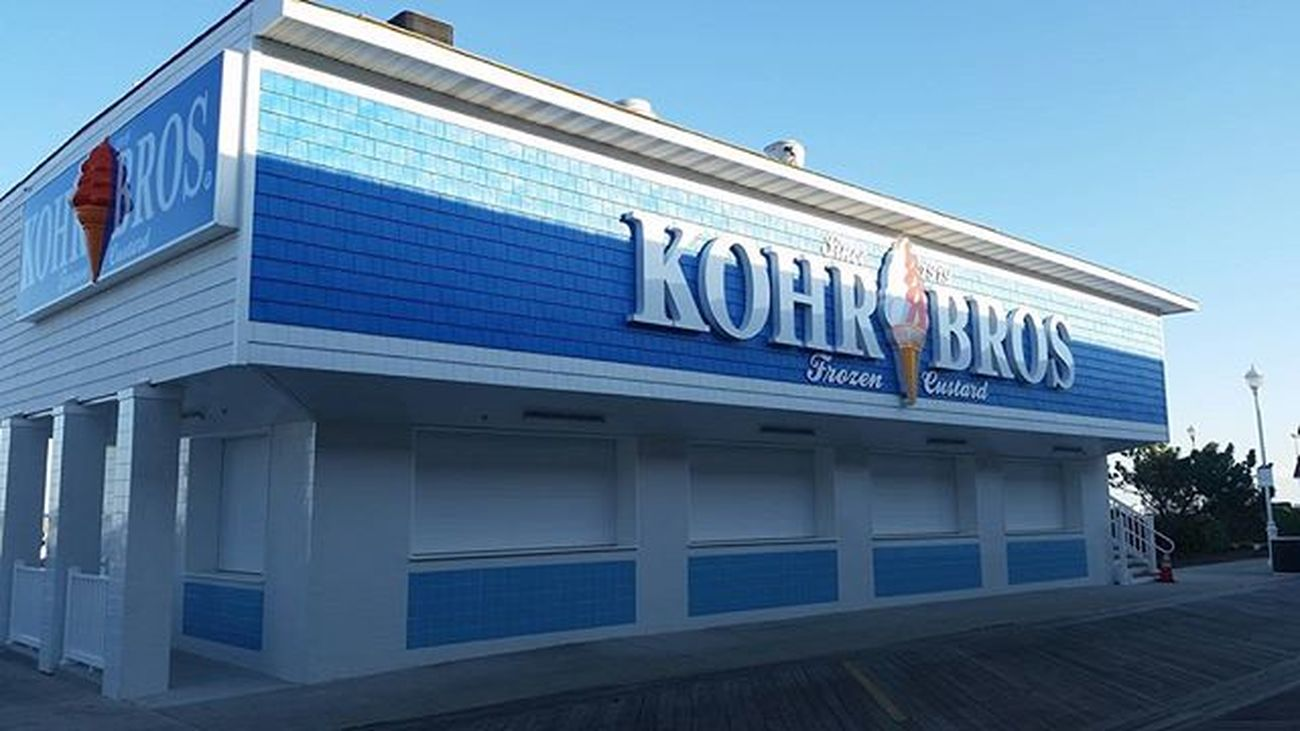 New Kohrs Bros Frozen Custard, 800 block S Boardwalk, looks ready for their Grand Opening... Oceancitycool OceanCity Maryland Ocmd Boardwalk Frozencustard