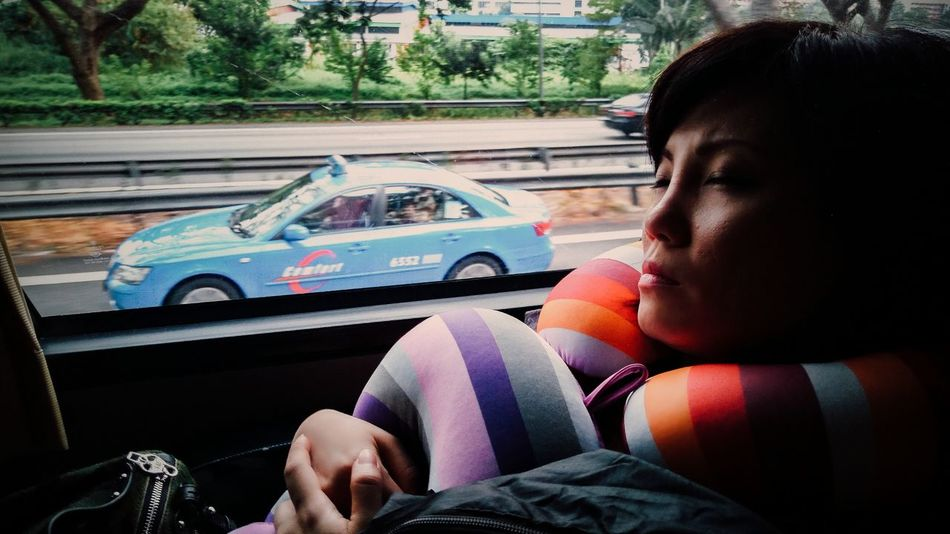 Sony Xperia Z3 People Portrait Bus Road Trip Travel Highway Tired Sleeping Feel The Journey EyeEm X Canon - Feel The Journey