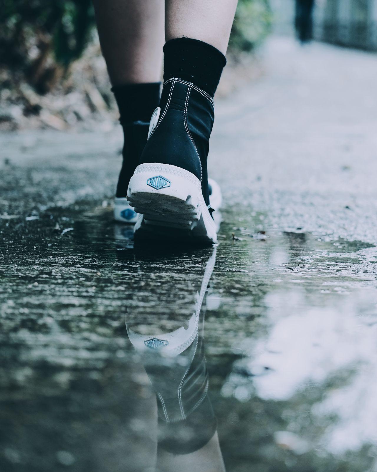 Moody Reflection Filmsimulation Fujifilm FUJIFILM X-T1 Fujifilm_xseries Human Leg Lifestyles Low Section Moody Motion Outdoors Reflection Sports Clothing