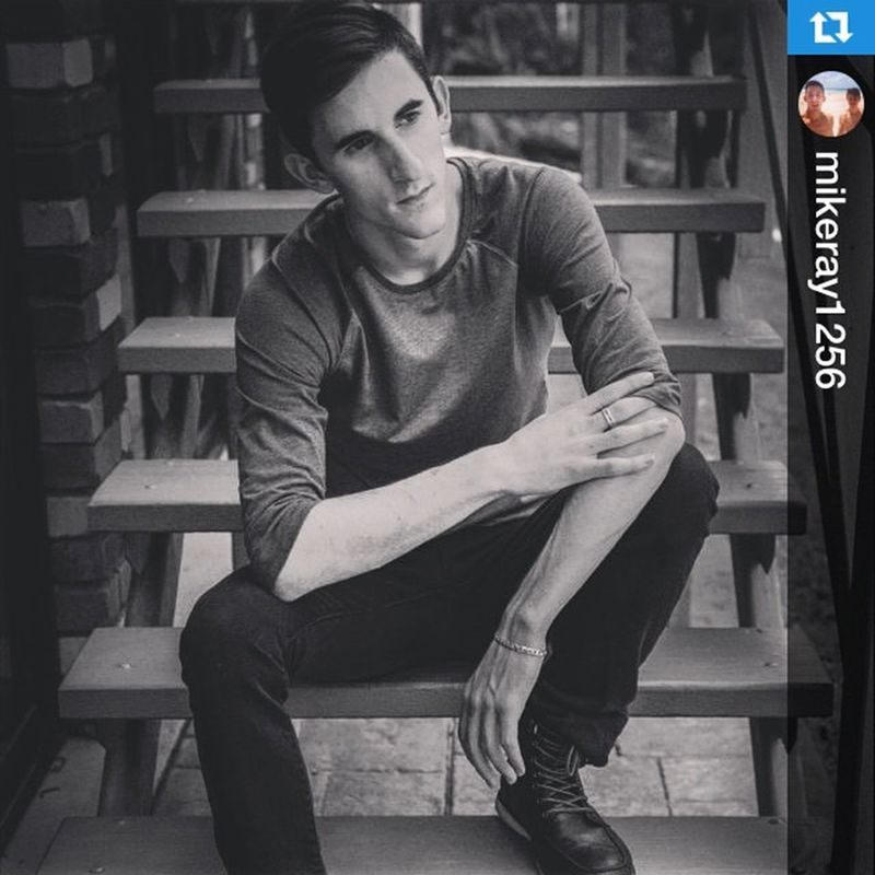 Reposting pic from a shoot with @mikeray1256 ・・・2014 photo Shoot. Outdoor Model Thoughts Chilled Fun Style Modelife