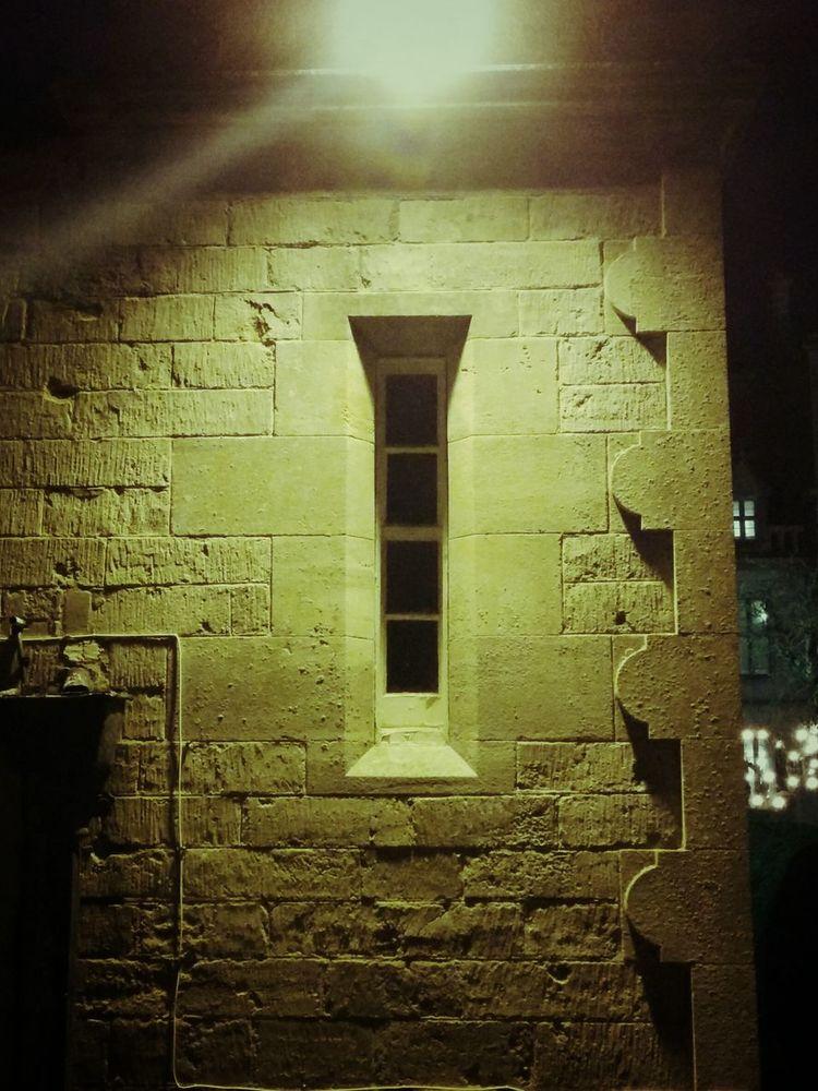 Night Photography Old Building  Urban Geometry Window