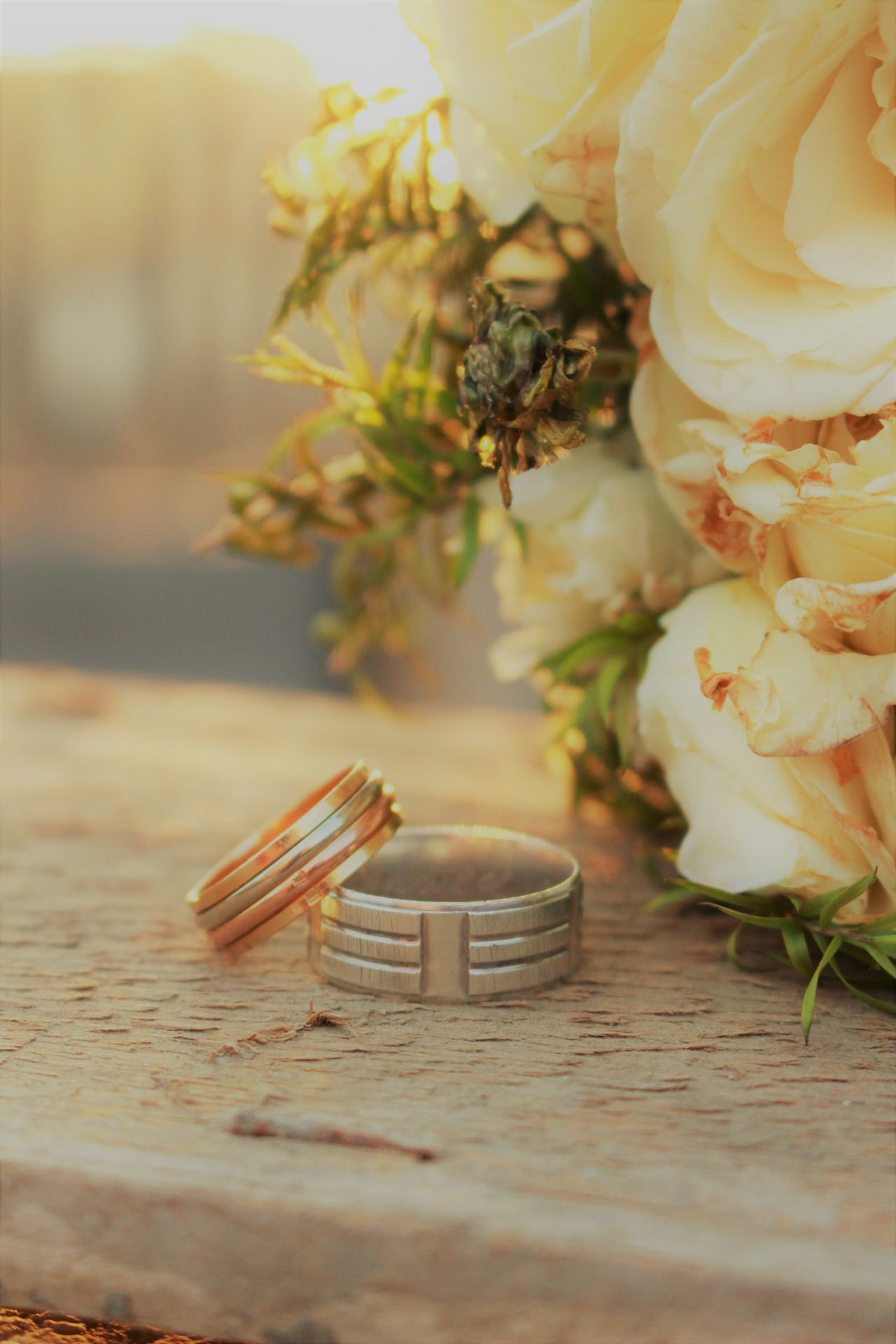 Ring Road Sun Wedding Wedding Rings Awesome Beautiful Flowers Sunset Sunflare White