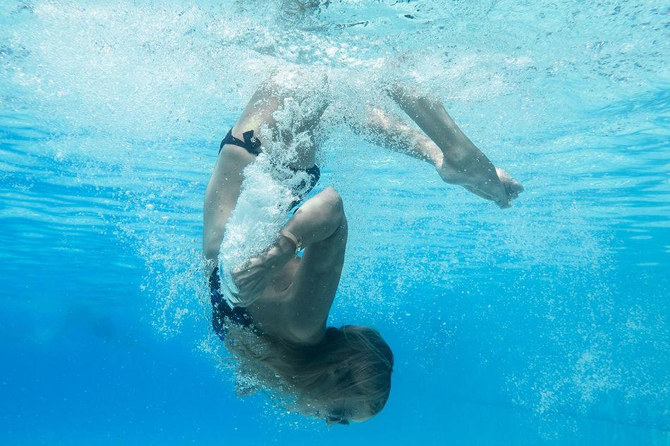 Beautiful stock photos of yoga, Bikini, Blond Hair, Blue, Carefree