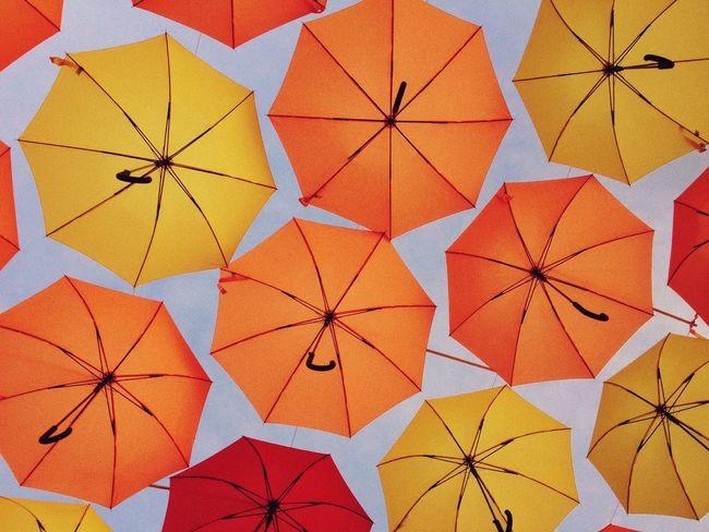Partially safe Umbrellas Colors Orange EyeEm Best Shots