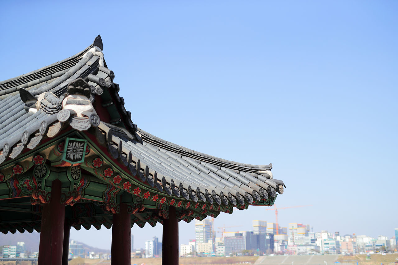 Past and Present Architecture Clear Sky Gongju-city Korean Traditional Architecture No People Old-fashioned Past And Present Sky Traditional Traditional Architecture