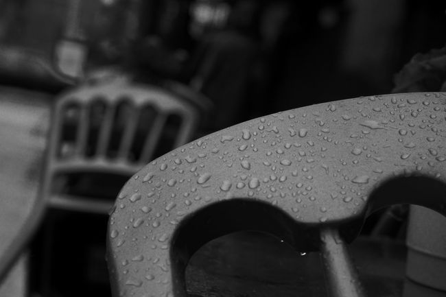 Rainy Day 50mm Chairs Close-up Curve Droplet Focus On Foreground Nikon Nikonphotography No People Outdoors Rain Rainy Days Selective Focus Street Photography Streetphotography Blackandwhite