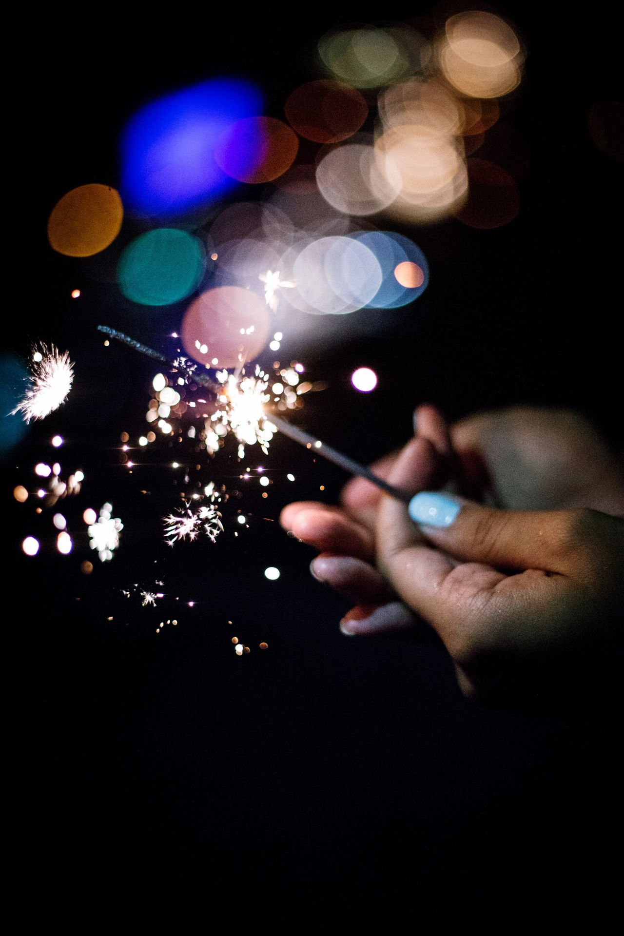 Lights Light And Shadow Sparks Sparklers Hands Bokeh Bokeh Photography
