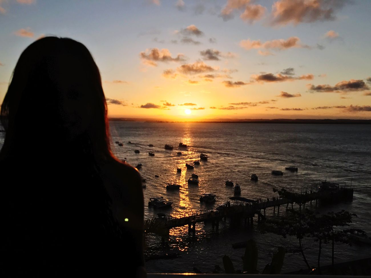 Morro De São Paulo Sea Sunset Water Sky Horizon Over Water One Person Lifestyles Real People Beach Rear View Scenics Outdoors Cloud - Sky Reflection Women EyeEmNewHere Salvador Bahia Night Sunset_collection
