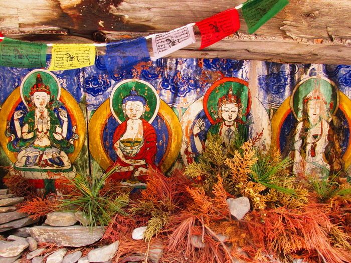 mani wall Nature Nepal Art And Craft Bouddha  Close-up Day Female Likeness Flags Holy Human Representation Indoors  Male Likeness Mani Wall Multi Colored No People Religion Statue