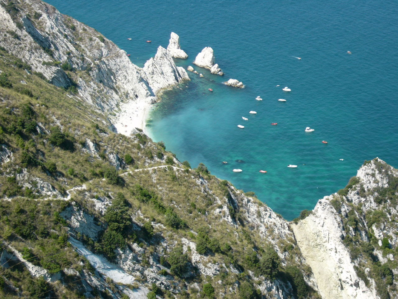 Outdoors Nature Scenics High Angle View Beauty In Nature Landscape Sky Sea Italy Conero
