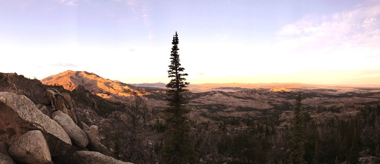 On Top of the World Mountains Hunting Panorama Trees Sky Landscape Scenery Scenic