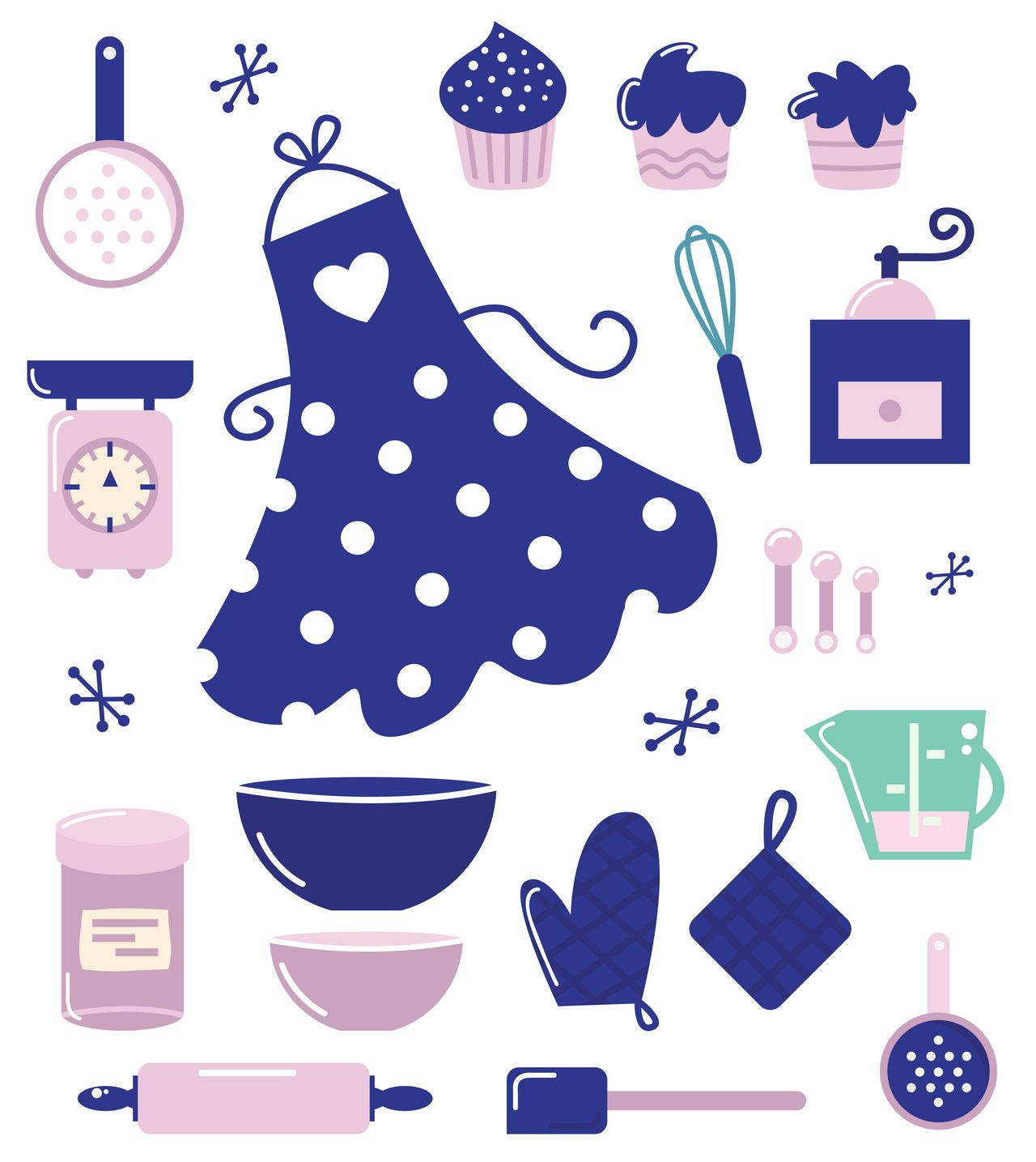 Unique art illustration : Simple Kitchen drawing. Original art / Perfect for marketing segment Art Artforsale Authors Close-up Coffee - Drink Creativeshop Dots Graphic Illustration Kitchen Kitty Lifestyles Muffins No People Pencil Drawing S Six Sixties Stars Woman Womanly