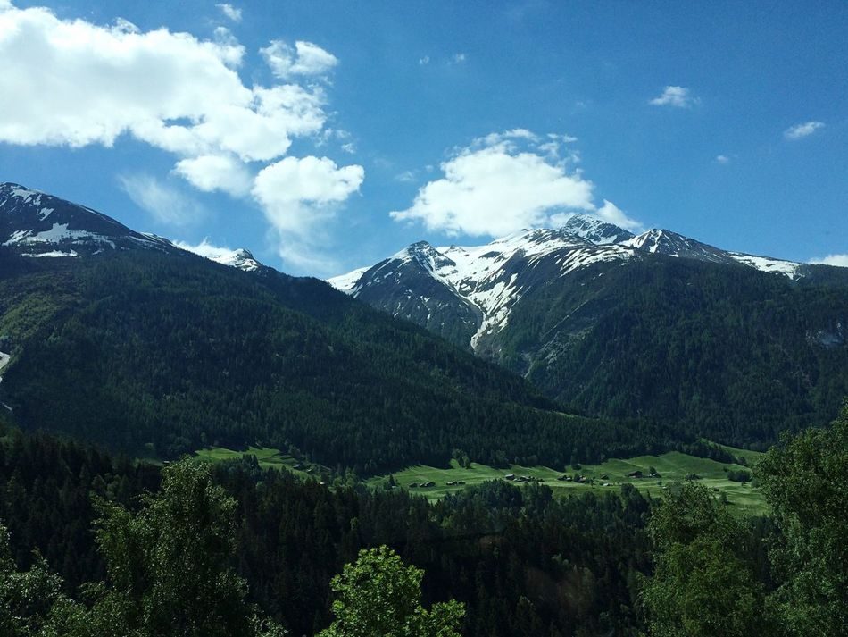 Mountain Sky Nature Landscape Beauty In Nature Outdoors No People Scenics Day Towards Fiesch Switzerland