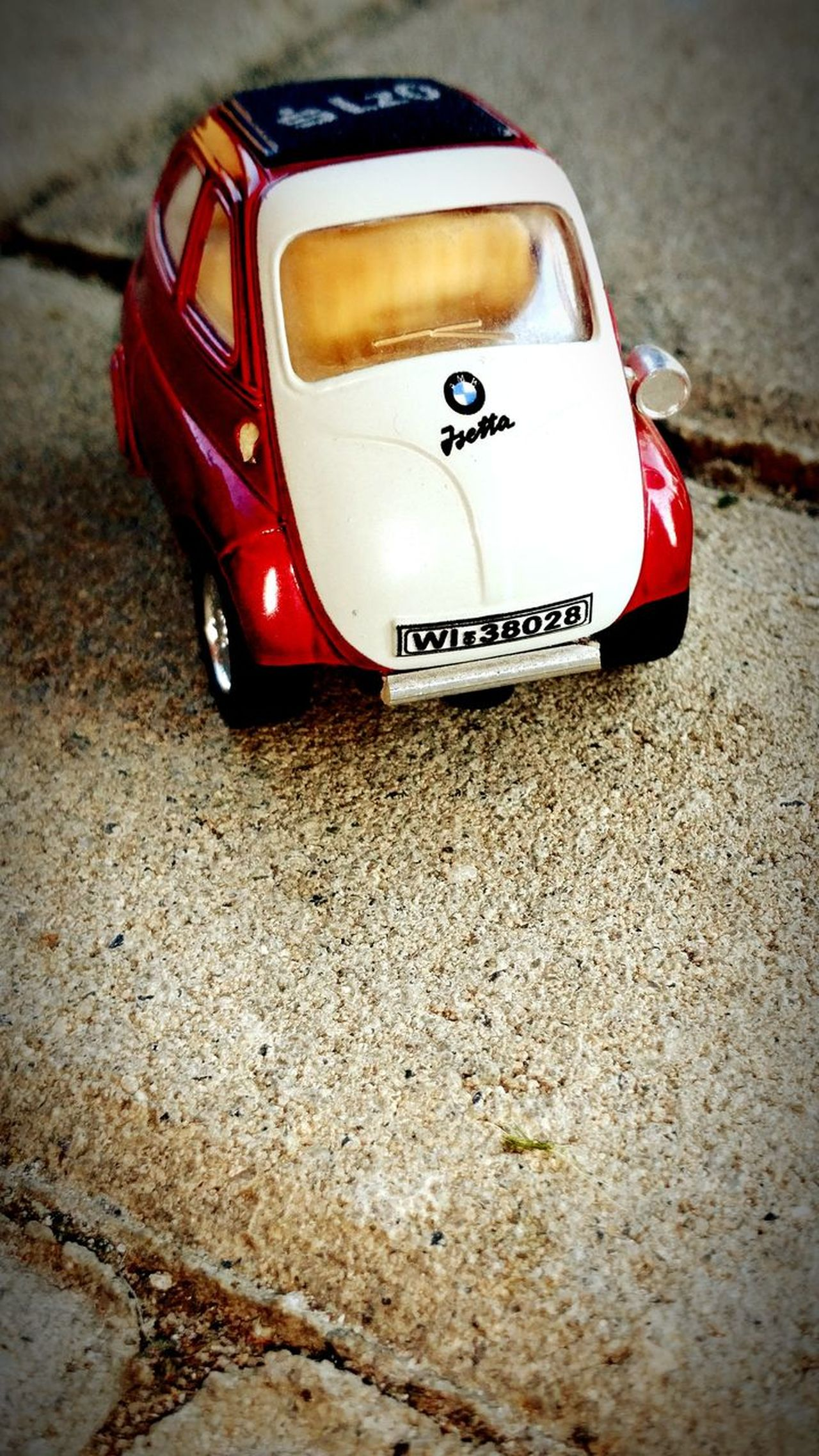 EyeEmNewHere Car Mode Of Transport Outdoors No People Day Collector's Car Deutschland Germany Automobile Automobiles Isetta BMW Isetta Red Rot