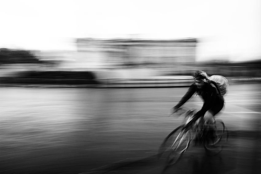 Biker Blurred Motion Buckingham Palace Cycling Cyclist Fast In The Rain London Uk blurred cyclist Close Up Street Photography The Street Photographer - 2016 EyeEm Awards