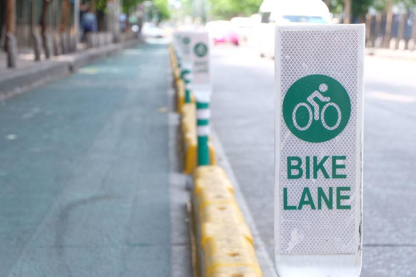 bicycle lane in bangkok metropolis Bangkok Bangkok Metropolis Bicycle Bicycle Lane Bicycle Way Bike Bike Lane Bike Way Chatuchak Chatuchak Park City Day Lane Metropolis Outdoors Road Sign Street Text Traffic Sign Travel Way