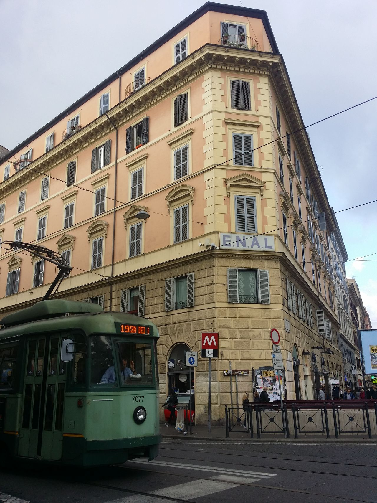 Architecture Building Exterior Built Structure City Day No People Outdoors Rome Italy Sky Tram Tramway