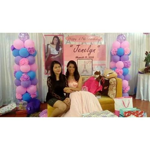 Last night. Belated happy 18th birthday @jenelyn_rodriguez thank you for having me to be part of your celebration. Iloveyou 😘