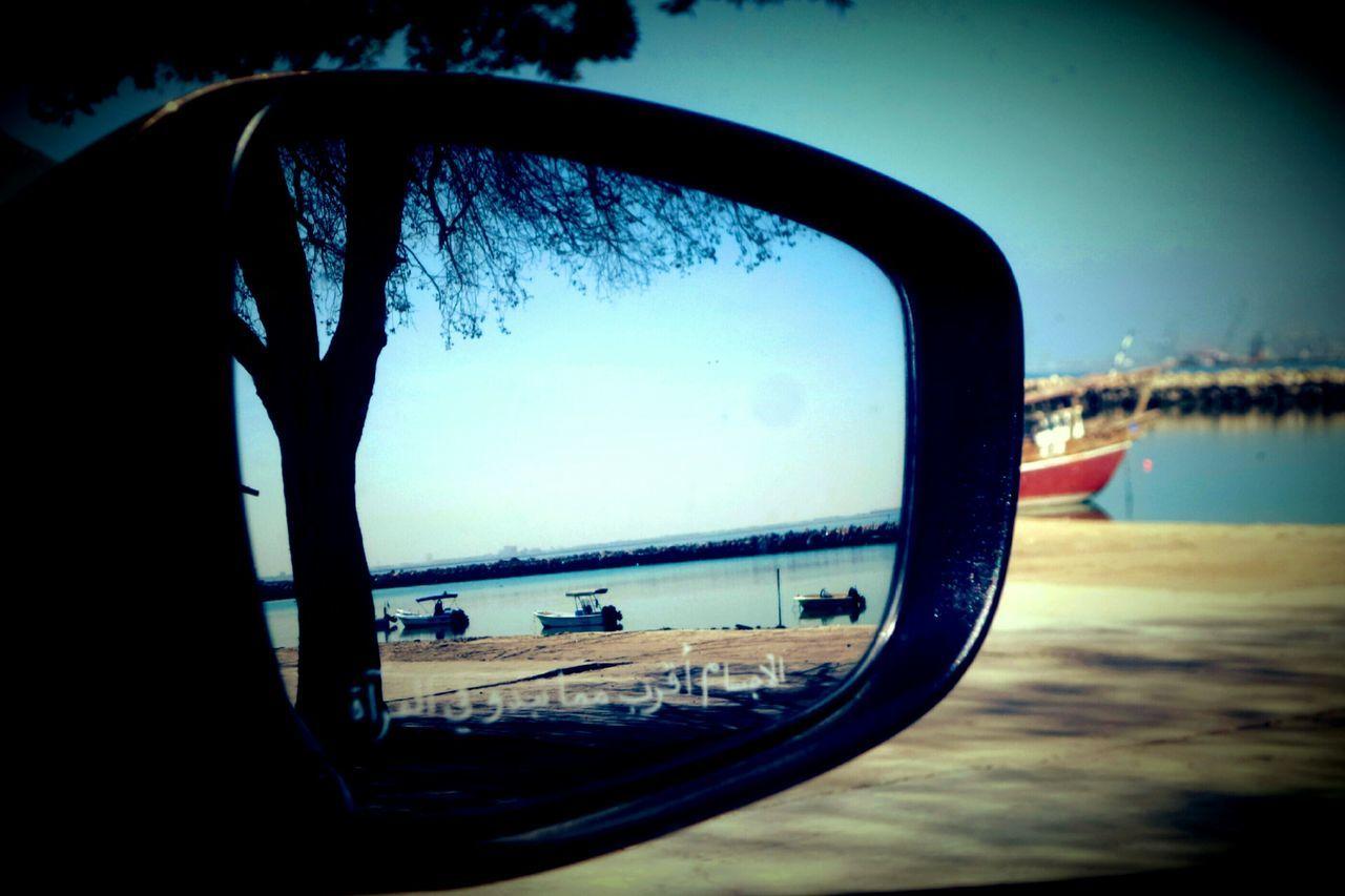 Always Be Cozy صور سعودية الشرقية الدمام صورة Photography Photo Photo Of The Day Samsung Cam لا اله الا الله محمد رسول الله  سبحان_الله الحمد_لله Car Mirror Beach Reflection The Beach My Year My View