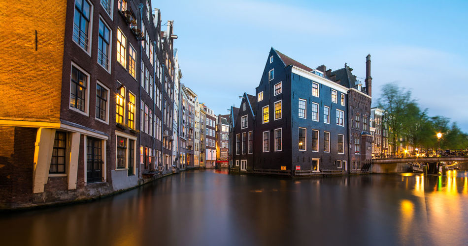 Beautiful stock photos of twilight,  Amsterdam,  Blurred Motion,  Building Exterior,  Built Structure