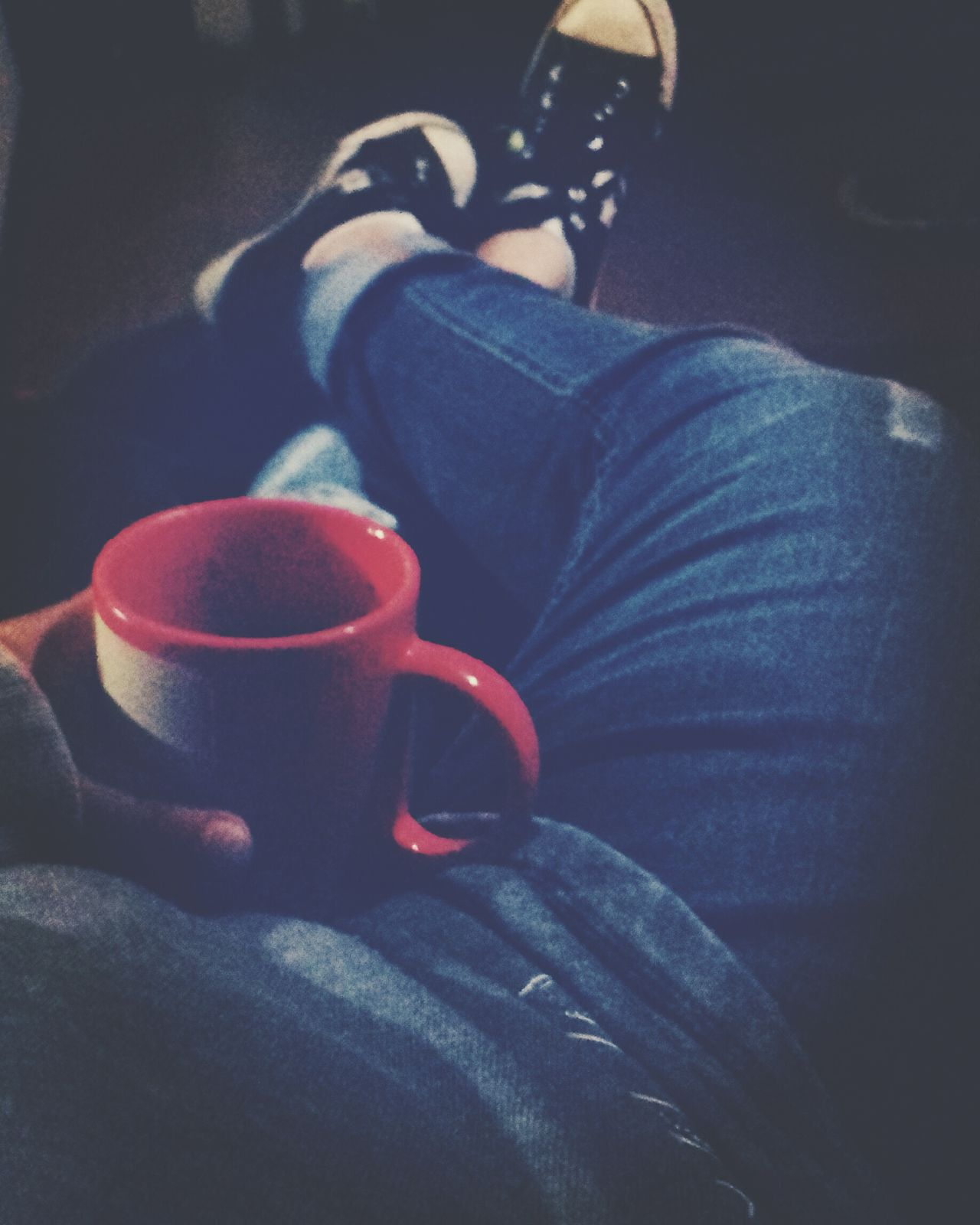 Queen Chilling At Home Chilling Netflix Hot Chocolate Cup Night Nightphotography Human Body Part Human Woman