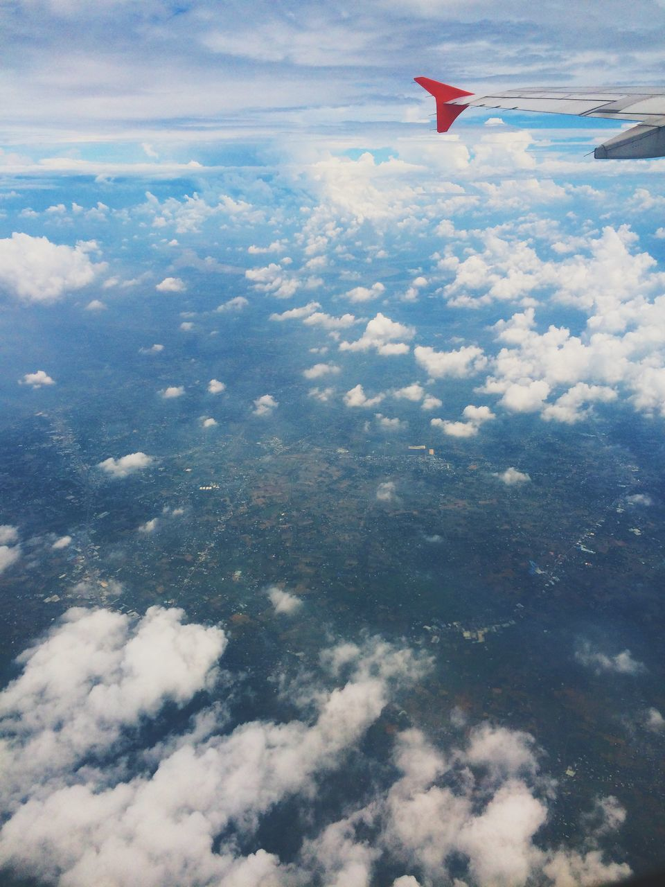 flying, sky, cloud - sky, no people, mid-air, day, nature, outdoors, beauty in nature, scenics, airplane wing