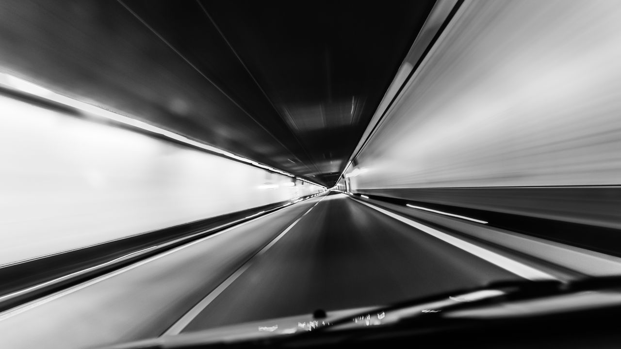 Cropped Image Of Car In Tunnel