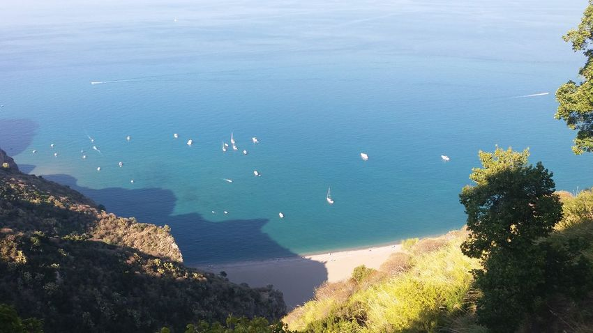 Italy Sicily Tindari View Capo D'Orlando View Panorama Aussicht Meer Boote Sea Beach Strand Himmel Sky Cielo