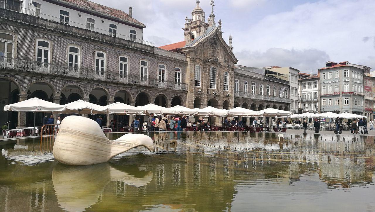 Braga Architecture Water Reflection Braga, Portugal