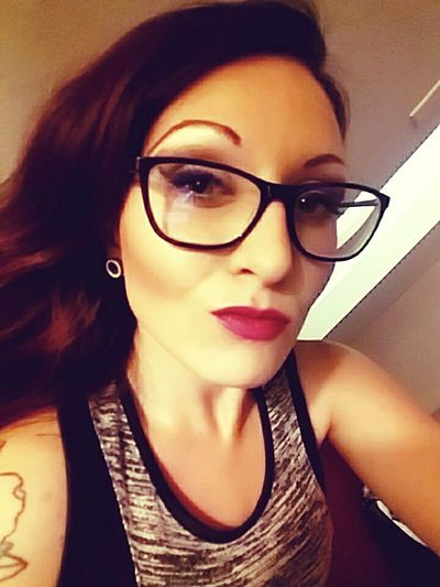 Red Lips.  Classyglasses Eyeglasses  Beauty Looking At Camera Ladytashaxo  In The Flesh Fuxwitit Last Of A Dying Breed Close-up Beautiful Woman Young Women One Woman Only Women Portrait Sik Wit It Distorted Reality ™