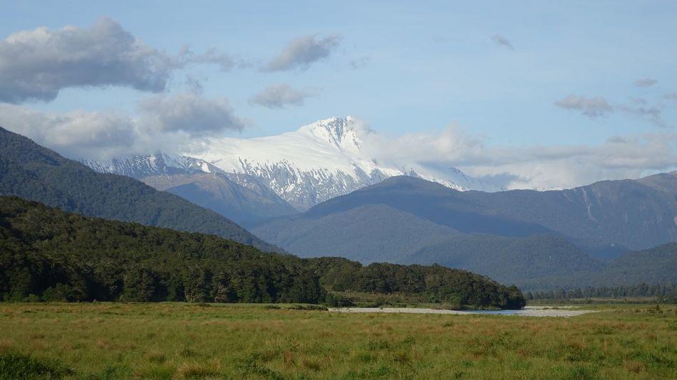 Mountain Nature Landscape Hello World New Zealand Sky