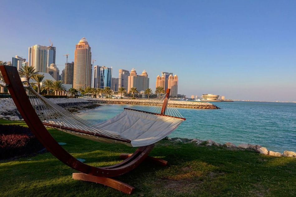 Doha Qatar Sheraton Hotel Sea And Sky Sea Hanging Out Relaxing