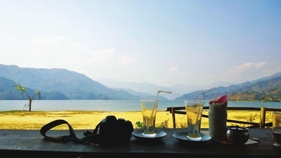 Drinking Glass Phewa Lake Pokhara!