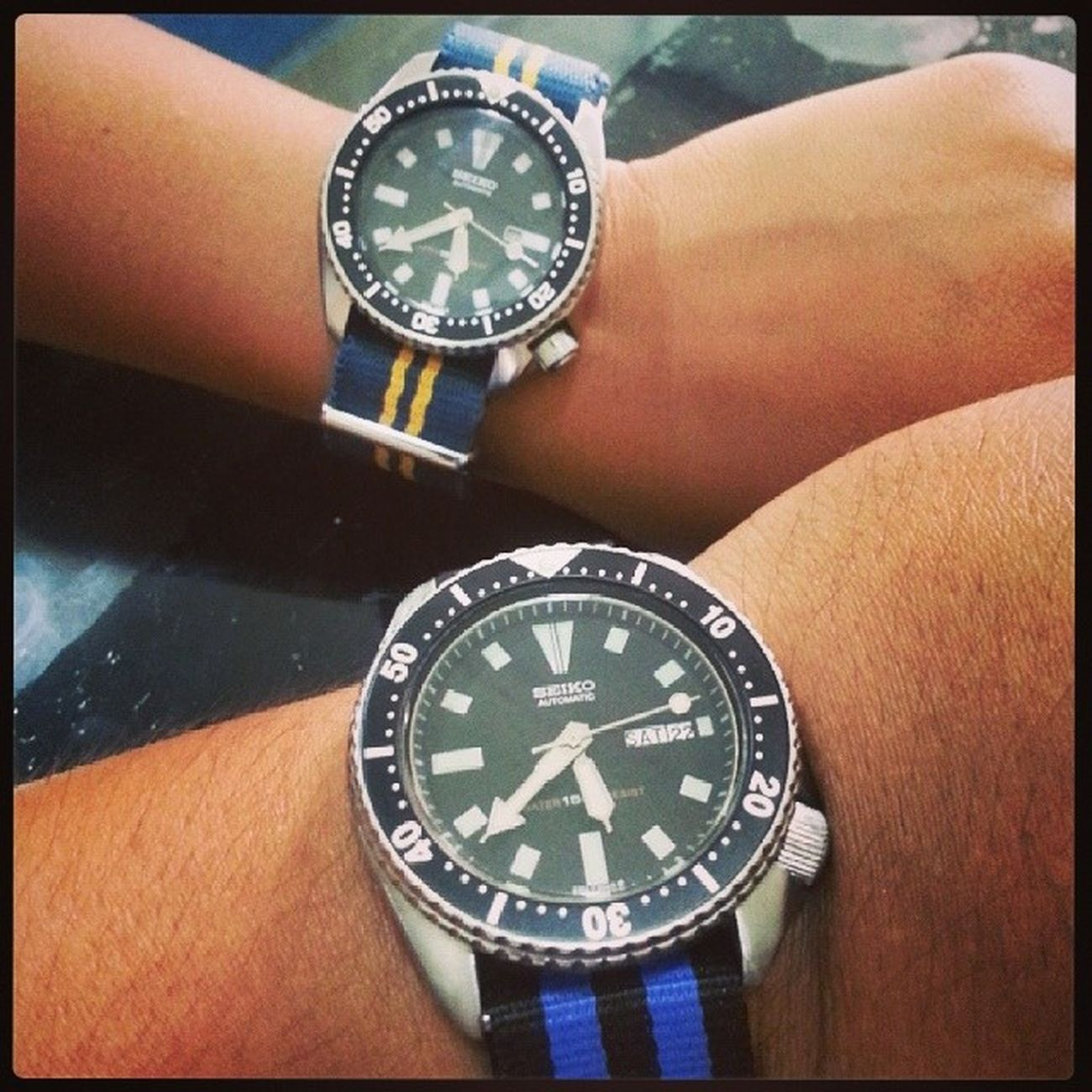 Our Seiko finally meet!! 6309 4205 Diver shashark