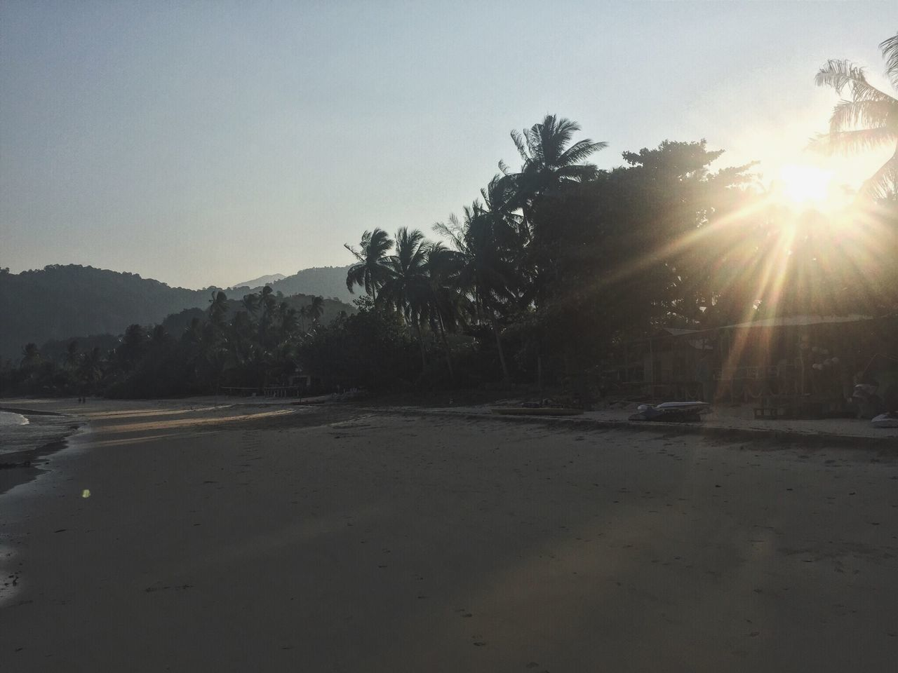 Tiomanisland Tioman Island Tioman Paradise Paradise Beach Sunset Juara Beach Nature Places To Visit Places To See Before You Die Travel Destinations Idyllic Nature At Its Best Sunbeam Sunrays Through The Branches Trees Beach Light Long Journey Sky Clouds And Sky Tropical Paradise Tropical Island