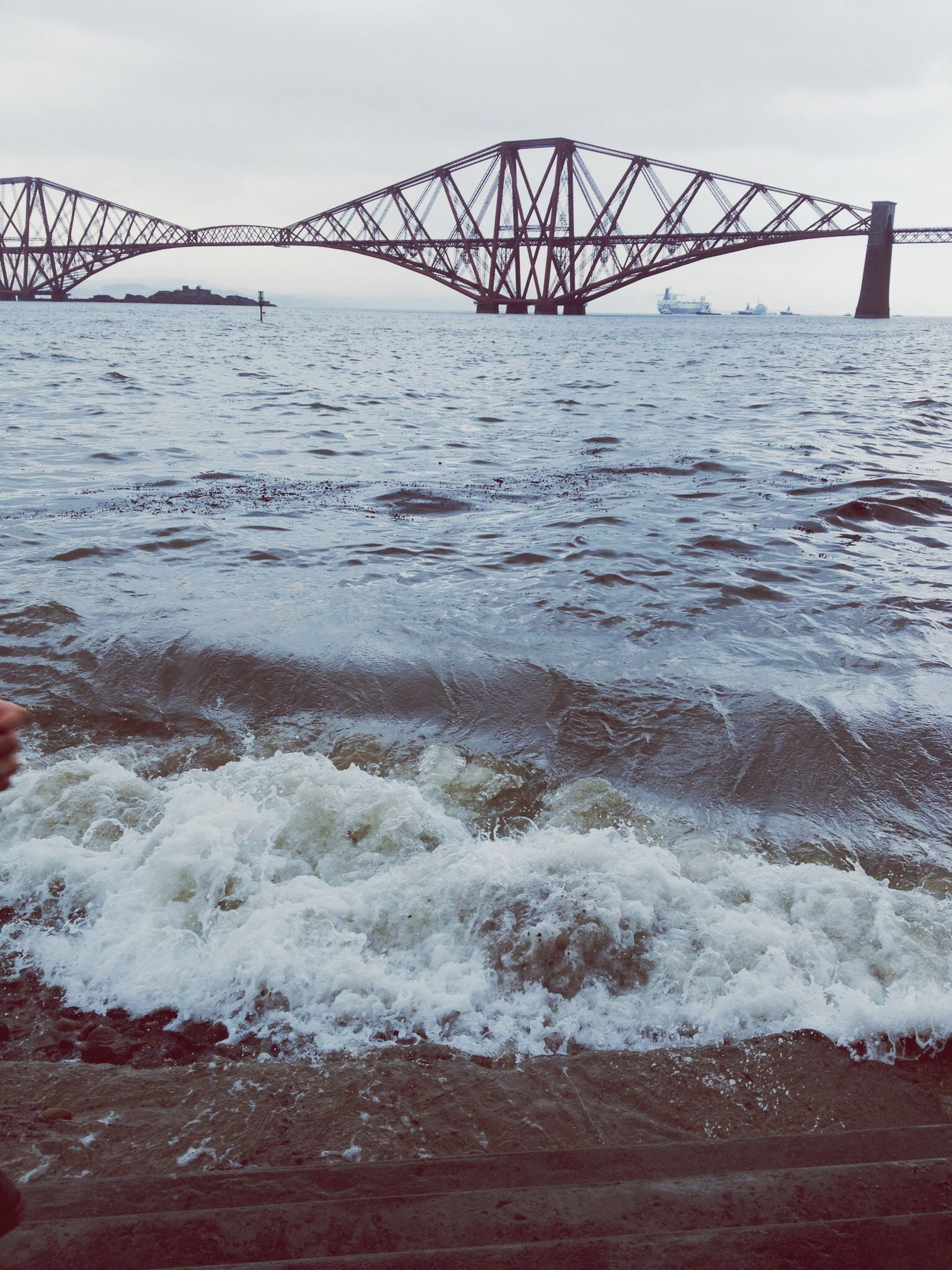water, sea, sky, pier, bridge - man made structure, built structure, connection, river, nature, railing, rippled, metal, wave, no people, outdoors, scenics, tranquility, waterfront, beauty in nature, architecture
