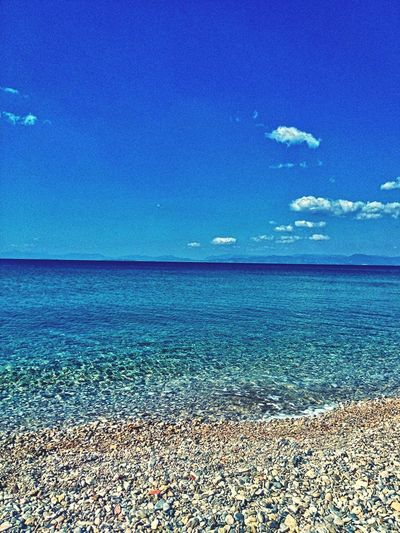 Sky And Clouds Sea Summer Greece