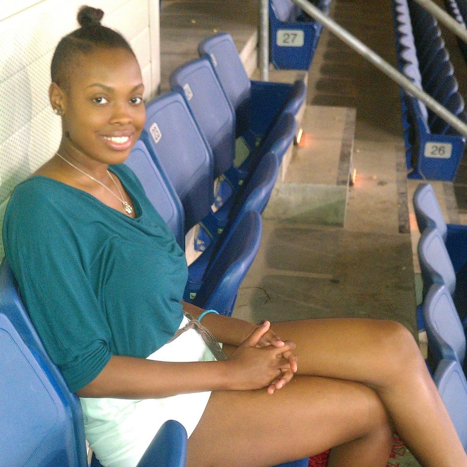 Me At The Texas Rangers Game
