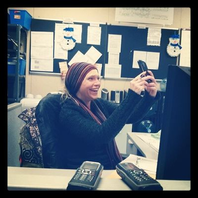 Krista hard at work Transfreight Selfie Pictureofapicture